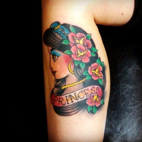 Jasmine Tattoo On Leg