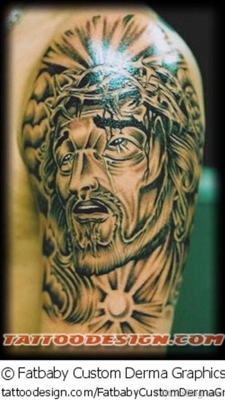 Jesus Christ Black Tattoo