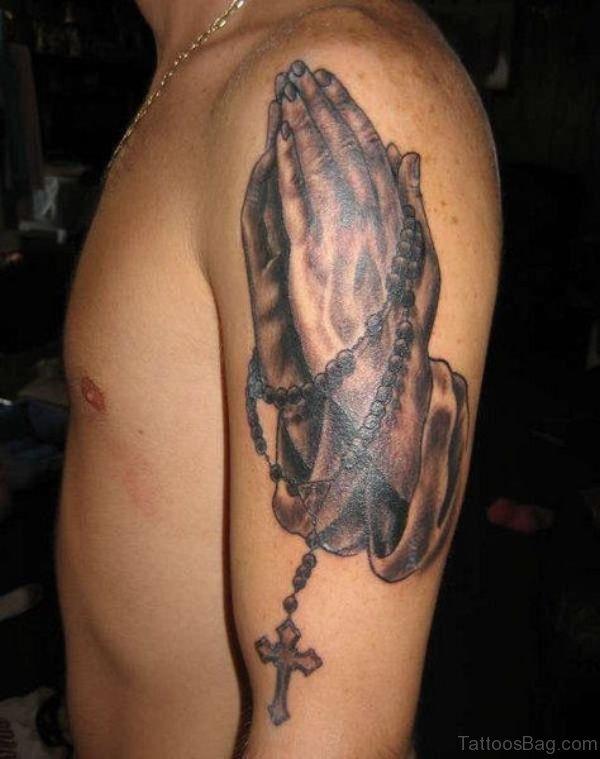 Jesus Praying Hand Tattoos