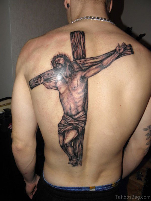 Jesus Tattoo On Back