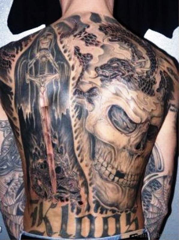 Juggalo Tattoo On Back