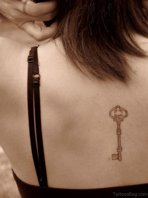 Key Tattoo On Back