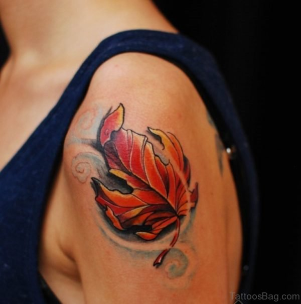 Leaf Maple Tattoo Shoulder