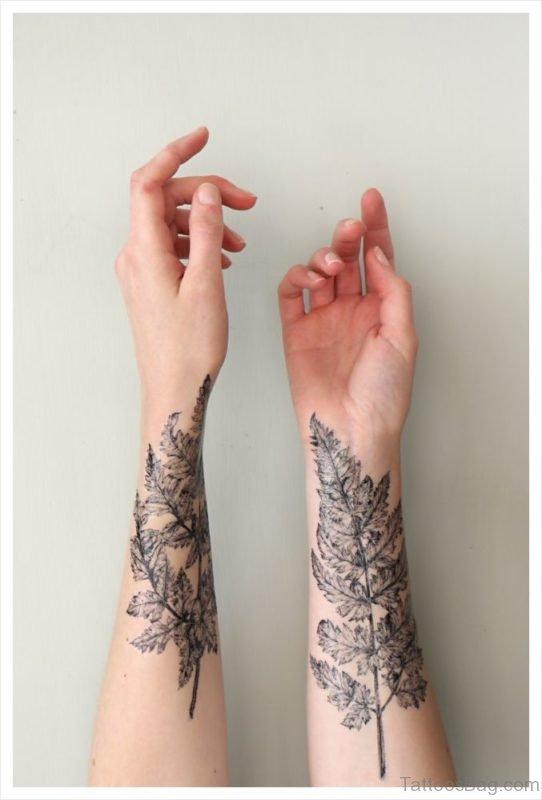 Leaves Wrist Tattoo On Wrist