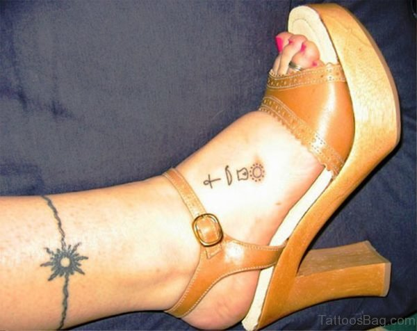 Leg Band Tattoo