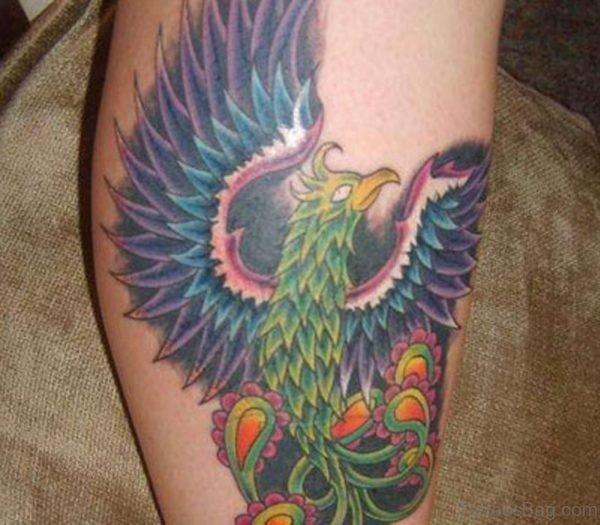 Leg Phoenix Tattoo