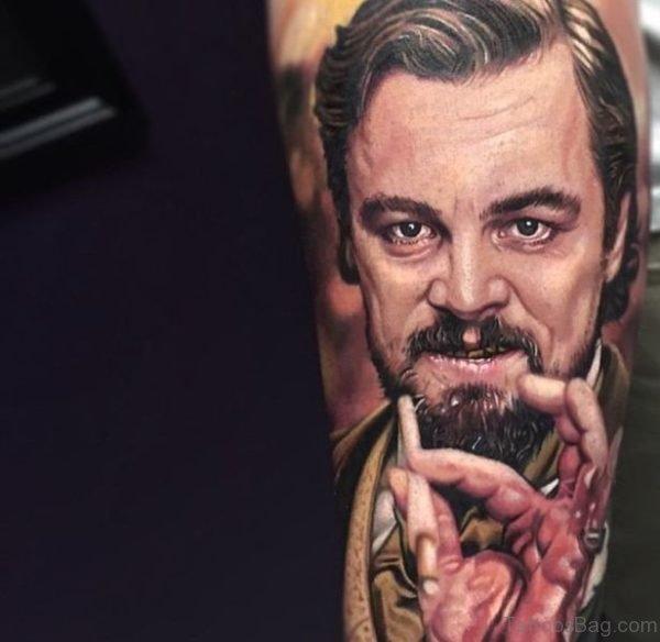 Leonardo DiCaprio Tattoo On Arm