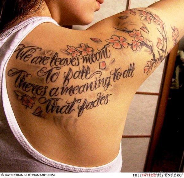 Lettering Tattoo On Shoulder