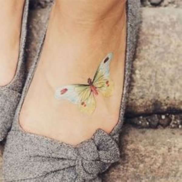 Light Colored Butterfly Tattoo
