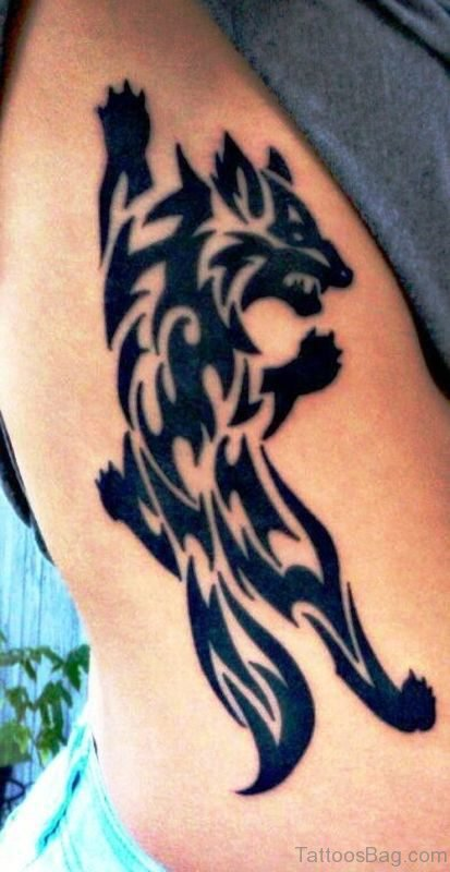 66 incredible alpha wolf tattoos for men. Black Bedroom Furniture Sets. Home Design Ideas