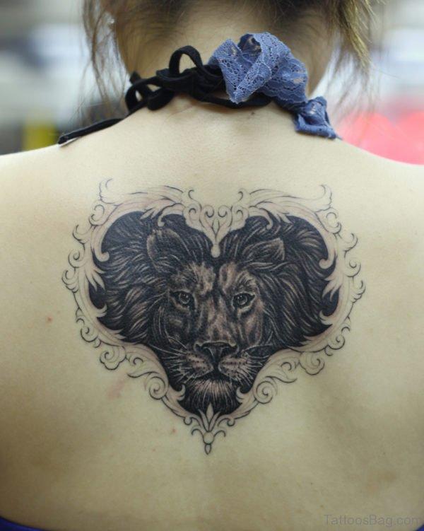 Lion head Tattoo On Back