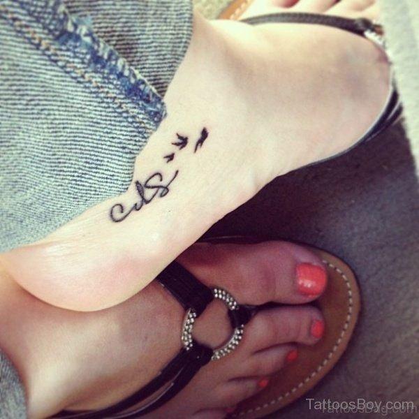 Little Bird Tattoo On Foot