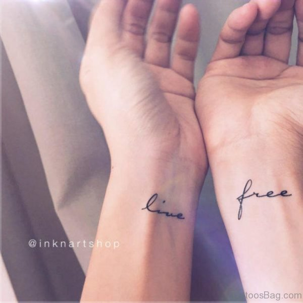 Live Free Tattoo On Wrist