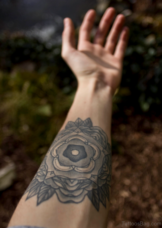 Lotus Mandala Tattoo On Arm