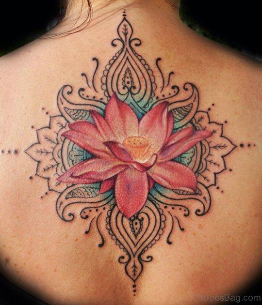 Lotus Tattoo On Back