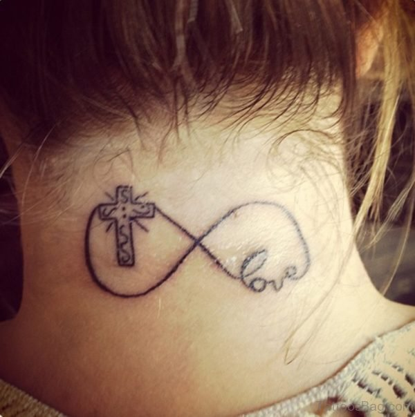 Love And Cross Tattoo