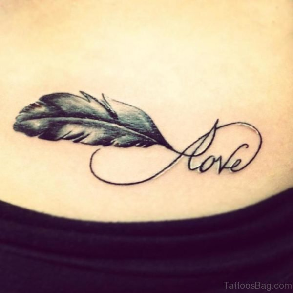 Love Feather Tattoo