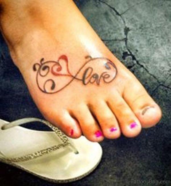 Love Tattoo On Foot 1
