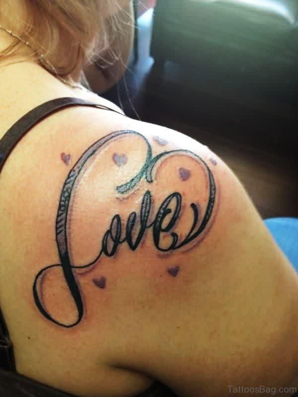 Love Tattoo On Shoulder 1