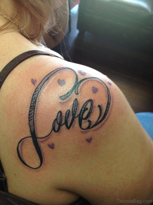 Love Tattoo On Shoulder