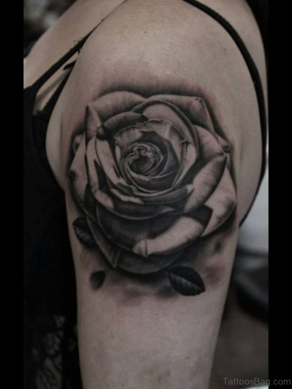 Lovely Black Ink Tattoo Design
