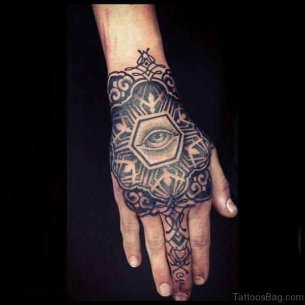 Lovely Black Mandala Tattoo