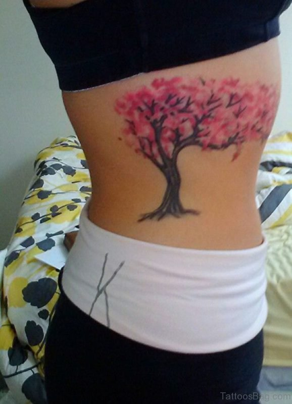 Lovely Cherry Blossom Tree Tattoo