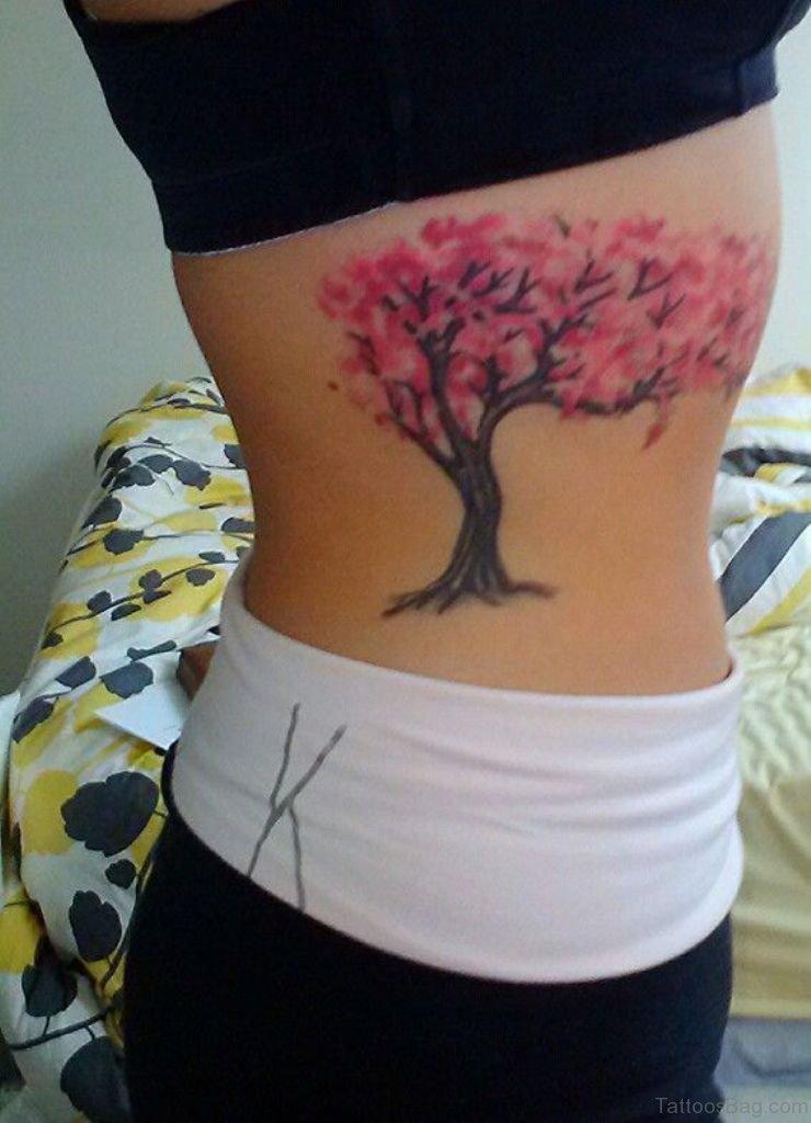 Cherry Blossom Tree Tattoo On Wrist: 76 Elegant Tree Tattoos On Rib