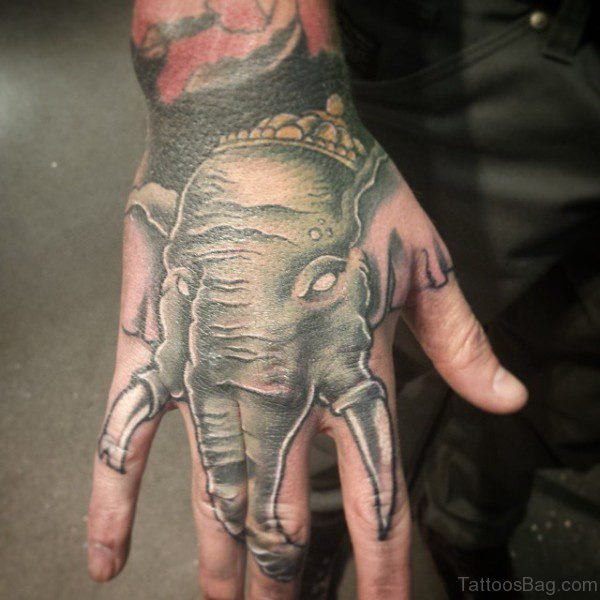 Lovely Elephant Tattoo Design 1
