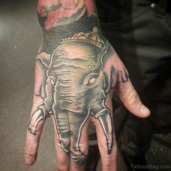 Lovely Elephant Tattoo Design