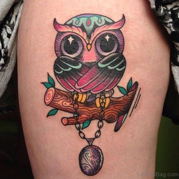 Lovely Owl Tattoo On Left Shoulder