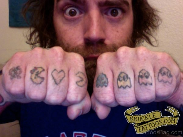 Lovely Pacman FingerTattoo