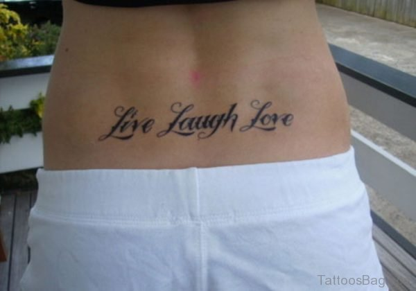 Lovely Quote Tattoo On Waist