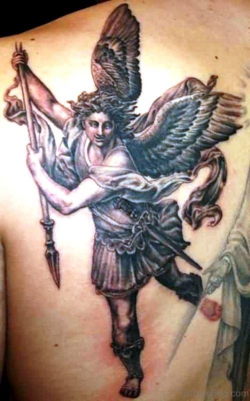 Magnificent Archangel Tattoo On Shoulder