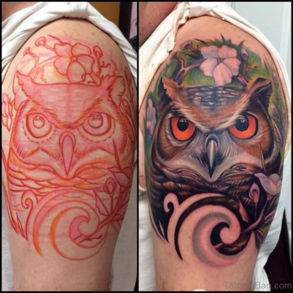 Magnifying Owl Tattoo
