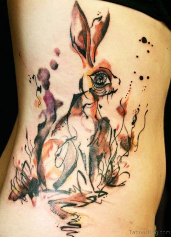 Magnolia Rib Tattoo For Girls
