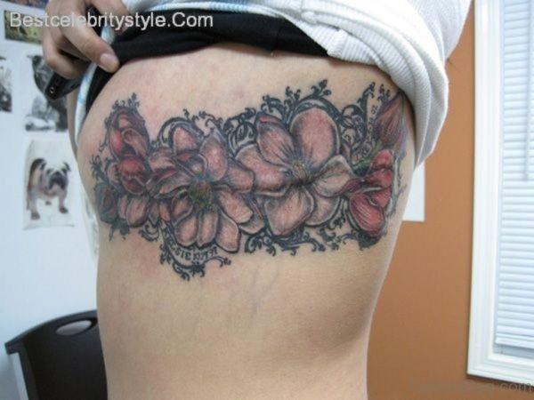Magnolia Tattoo On Rib