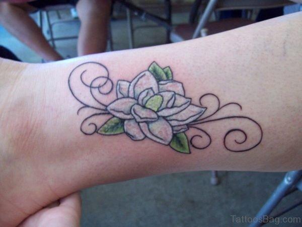 Magnolia Wrist Tattoo