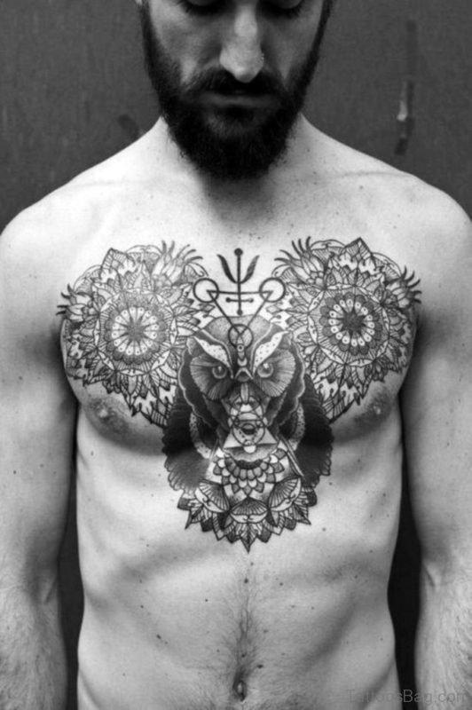 Mandala And Owl Tattoo