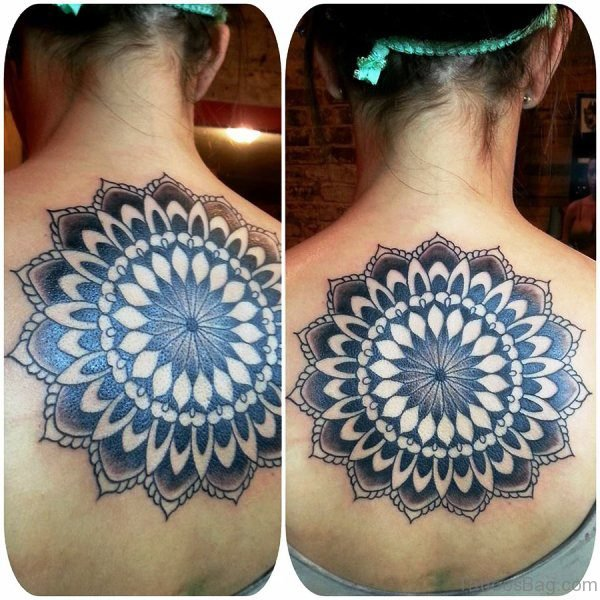 Mandala Flower Tattoo On Back