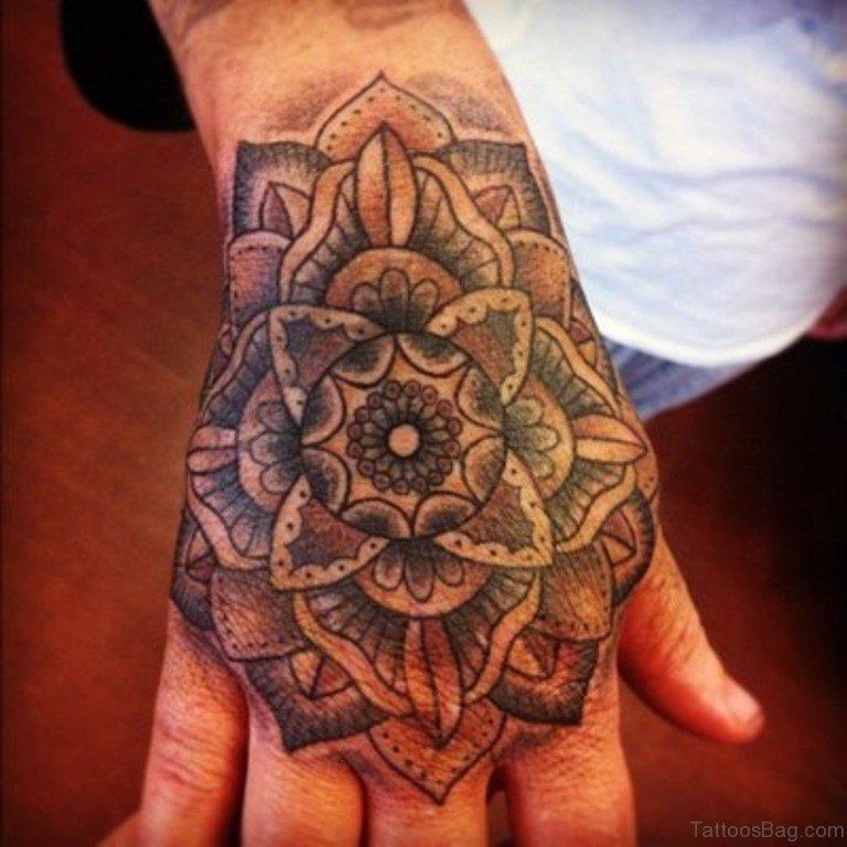 Lotus Flower Hand Tattoos