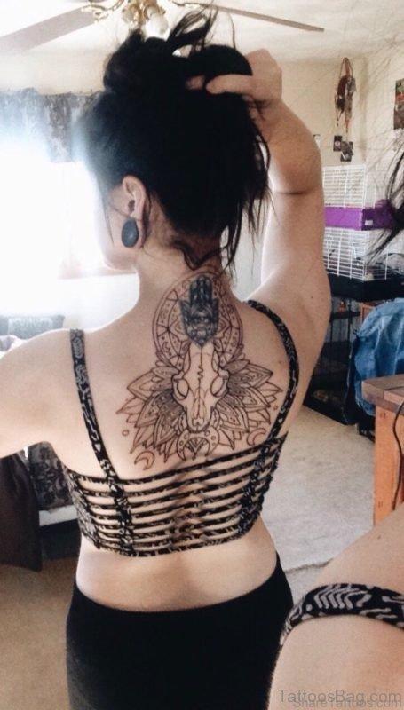 Mandala Nape Tattoo