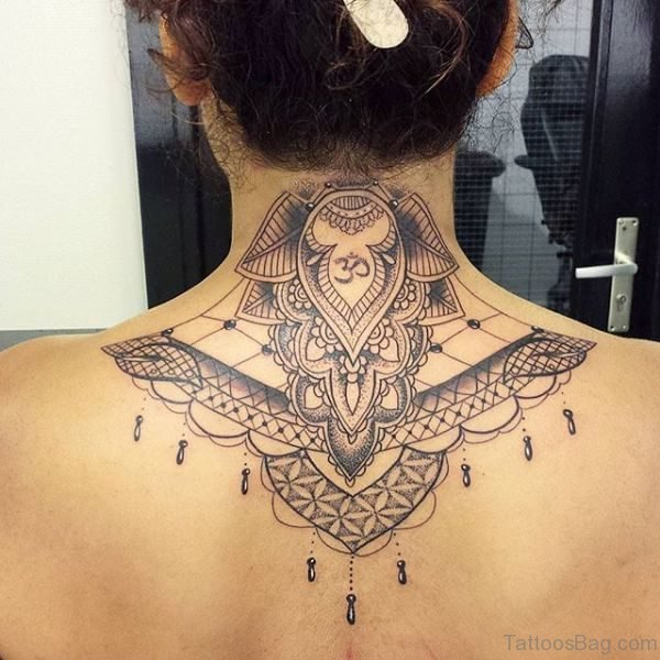 Mandala Neck Tattoo Design