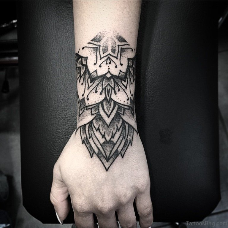 50 great looking mandala tattoos on hand for Hand arm tattoo