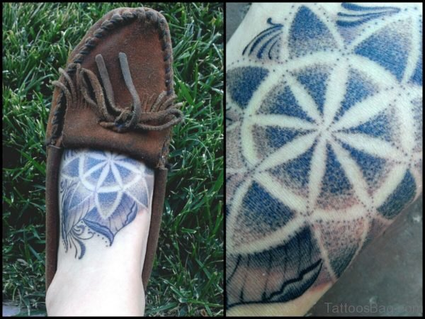 Mandala Tattoo Design On Foot