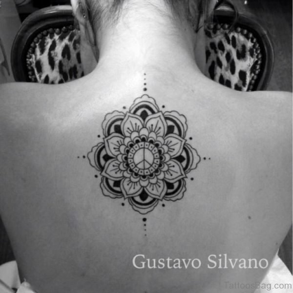 Mandala Tattoo Design On Neck