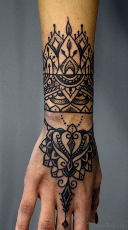 Mandala Tattoo Design On hand