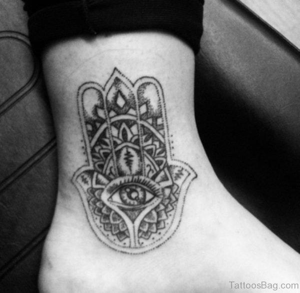 Mandala Tattoo On Ankle