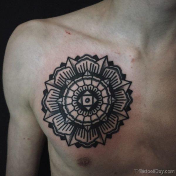 Mandala Tattoo On Chest