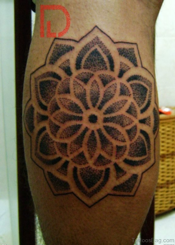 Mandala Tattoo On Leg